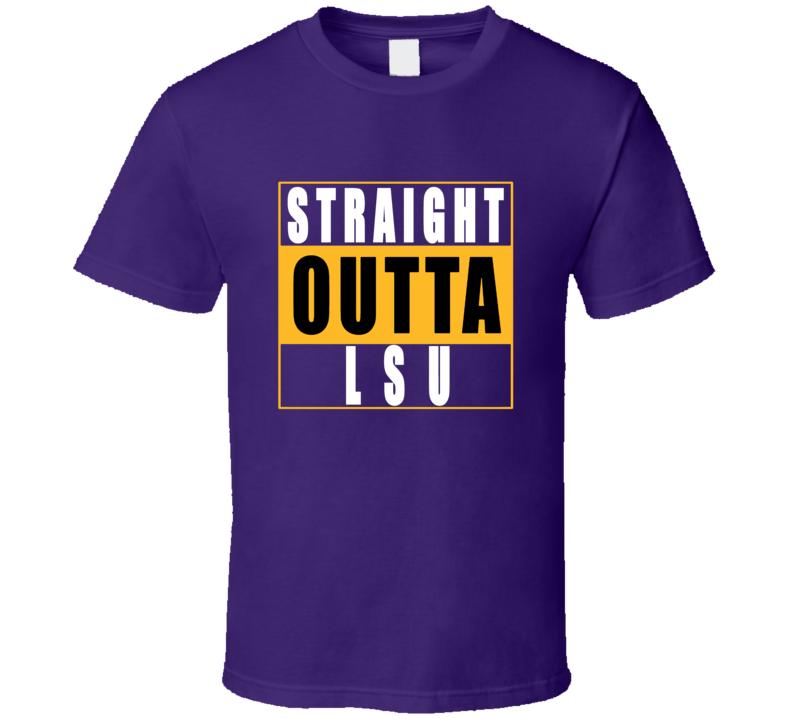 Straight Outta LSU  Football NWA T Shirt
