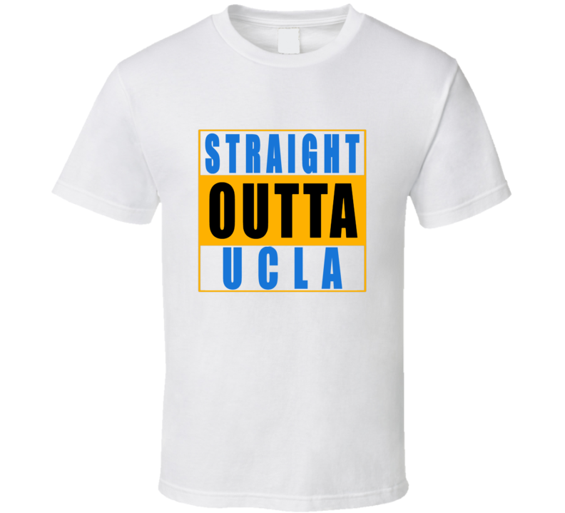 Straight Outta UCLA  Football NWA T Shirt