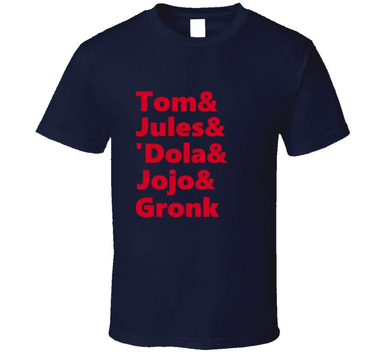 New England Players Football T Shirt