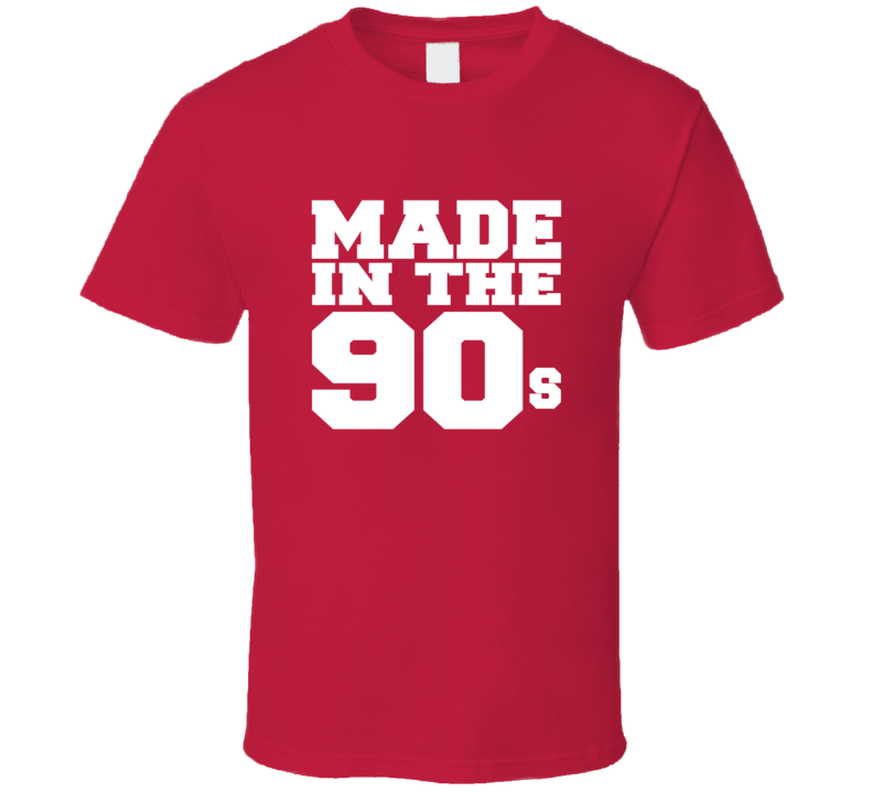 Made in 90s Tee 1990s Generation Retro T Shirt