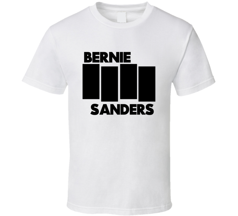 Bernie Sanders Black Flag Tee Presidential Election 2016 T Shirt