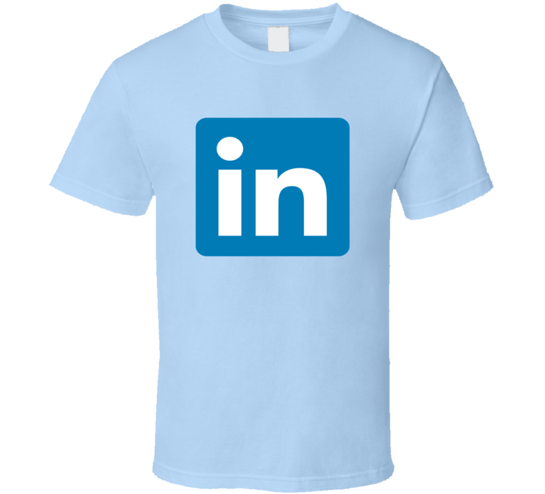 Linkedin Logo Tee Social Media Halloween Group Family Couples Costume Funny T Shirt