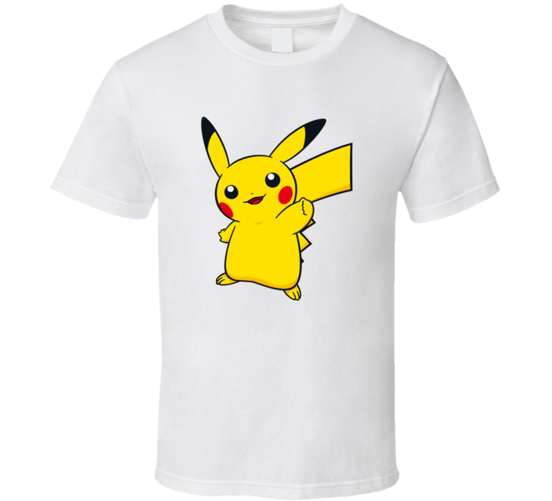 Pikachu Tee Pokemon Go App Play Along Game Funny Interactive Character T Shirt
