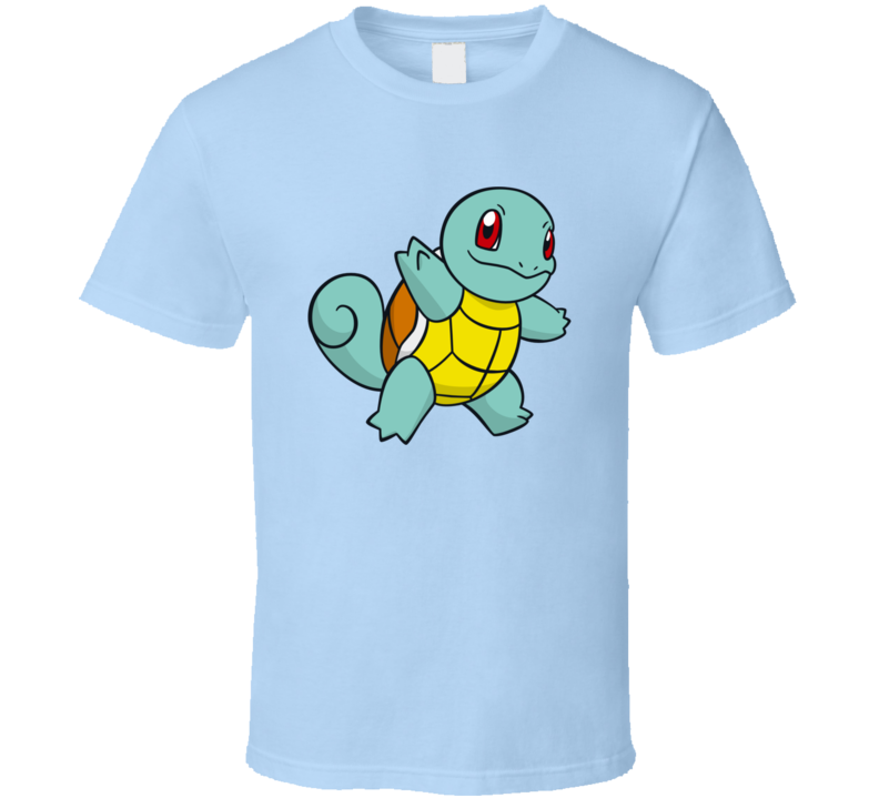 Squirtle Tee Pokemon Go App Play Along Game Funny Interactive Character T Shirt