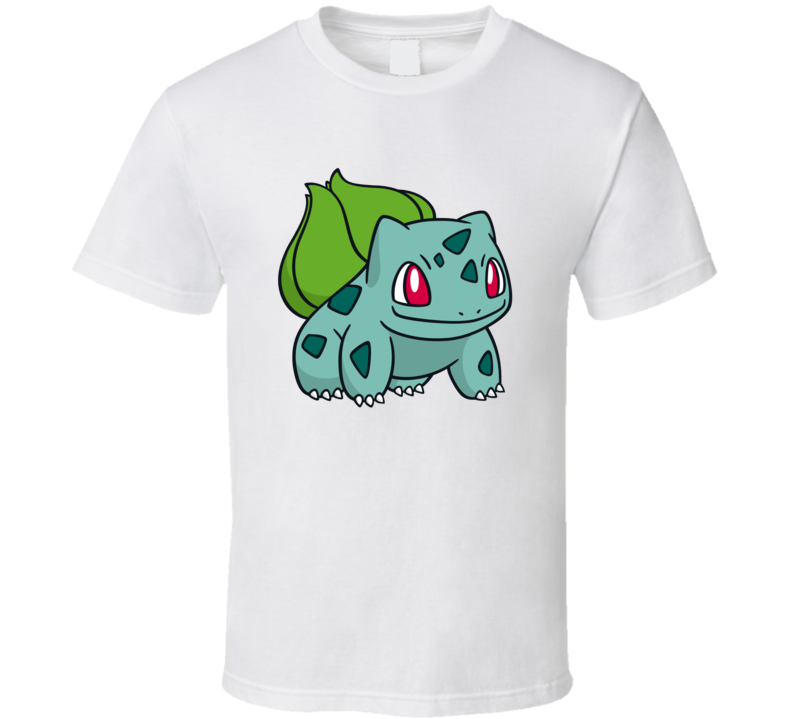 Bulbasaur Tee  Pokemon Go App Play Along Game Funny Interactive Character T Shirt
