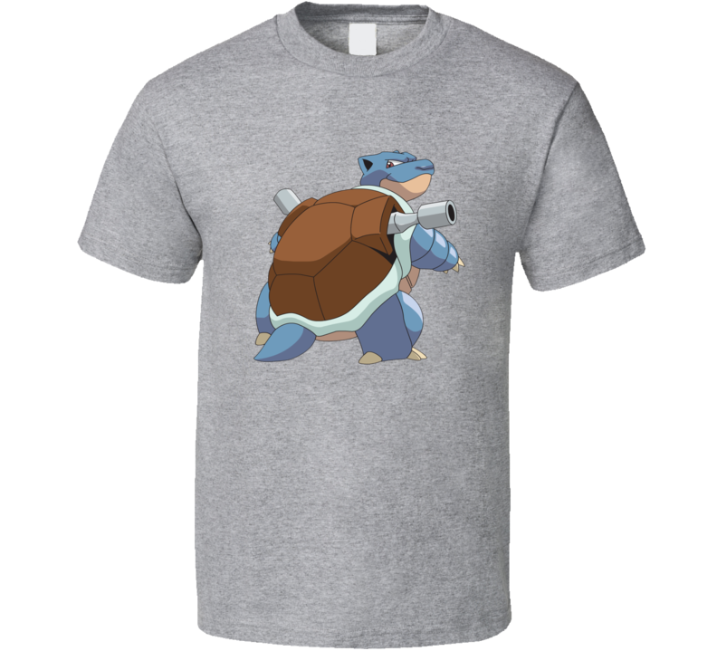 Blastoise Tee  Pokemon Go App Play Along Game Funny Interactive Character T Shirt