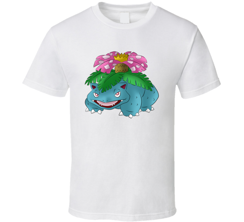 Venusaur Tee  Pokemon Go App Play Along Game Funny Interactive Character T Shirt