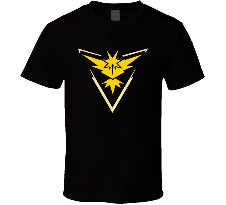 Team Instinct Yellow Tee Pokemon Go Hunter Interactive Game App Funny T Shirt