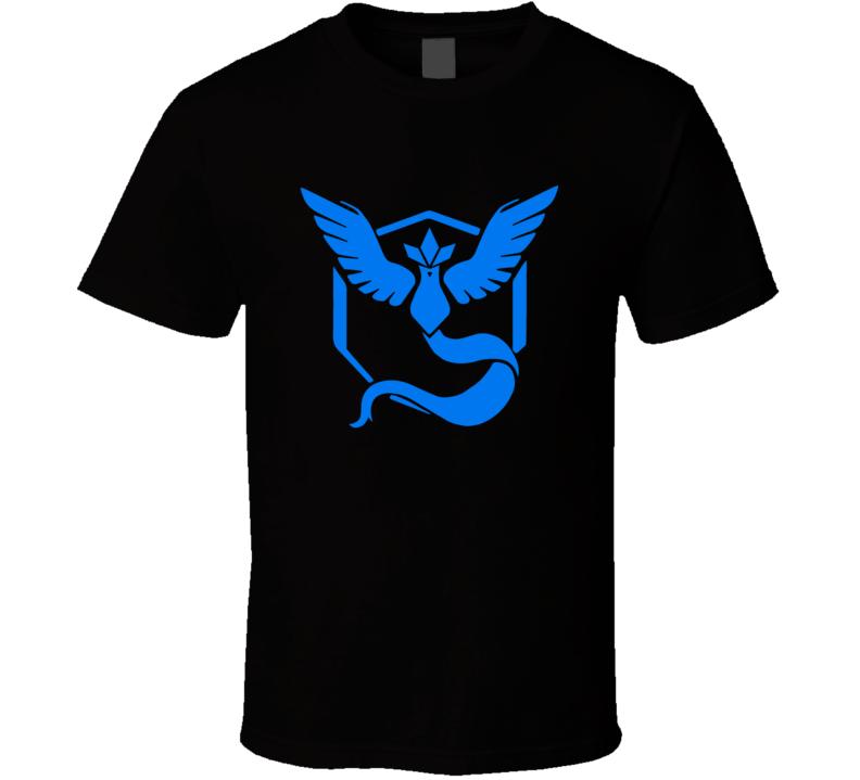 Team Mystic Blue Tee Pokemon Go Hunter Interactive Game App Funny T Shirt