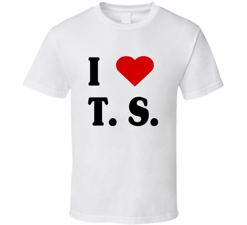 I love T. S. TS Tee Taylor Swift Tom Hiddleston Swifty Celebrity  Couple Trendy Heart T Shirt