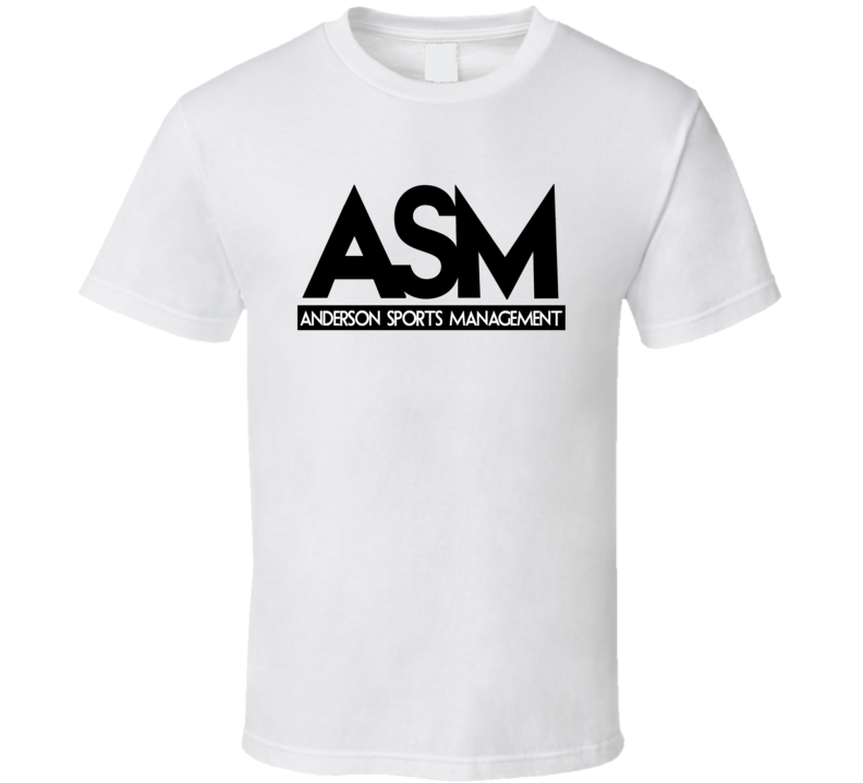 ASM Anderson Sports Management Tee The Rock Funny Ballers TV Series Dwayne Johnson T Shirt