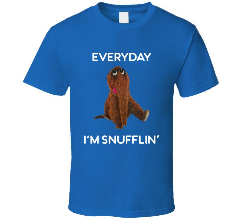 Everyday I'm Snufflin' Tee Funny Snuffleupagus Sesame Street T Shirt