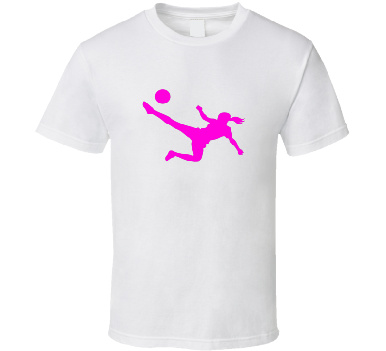Soccer Tee Trendy Soccer Player Silhouette Trendy Girls T Shirt