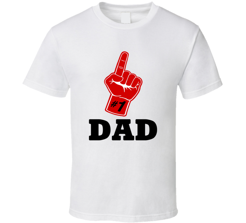 #1 Dad Tee Funny Sports Fan Best Dad Father's Day Trendy T Shirt