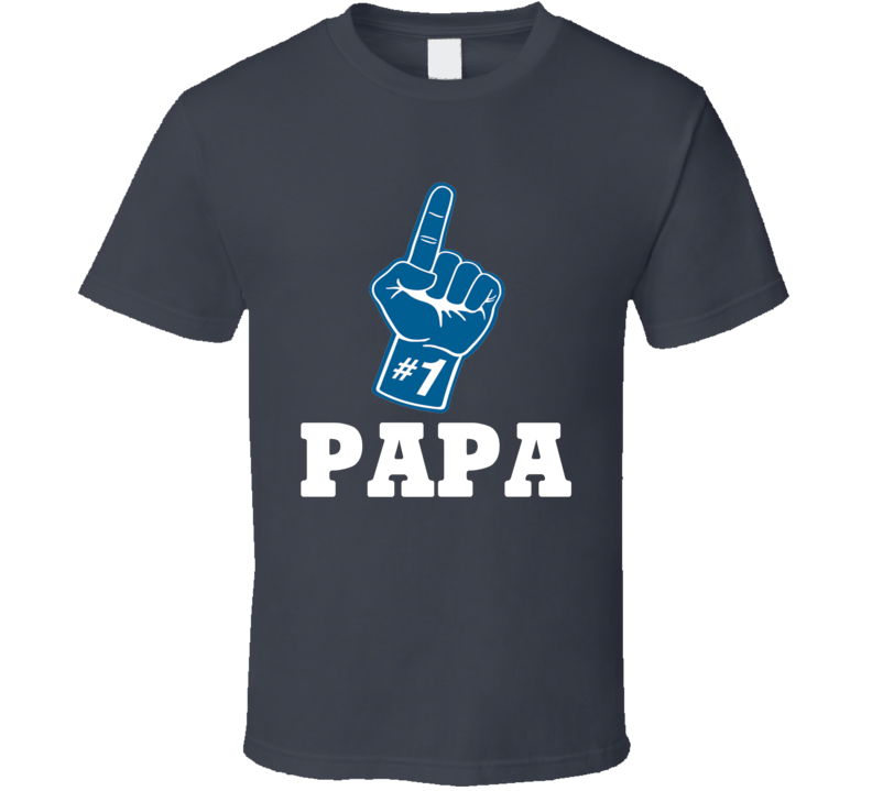 #1 Papa Tee Funny Sports Fan Best Dad Father's Day Trendy T Shirt