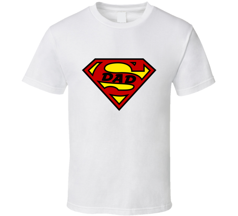 Super Dad Tee Funny Superdad Trendy Super Powers Father's Day Parody T Shirt