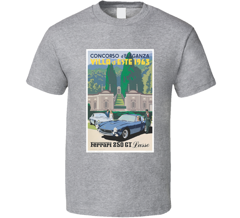 Ferrari 250 Gt 1963 Vintage Car Poster Tee Car Enthusiast Retro T Shirt