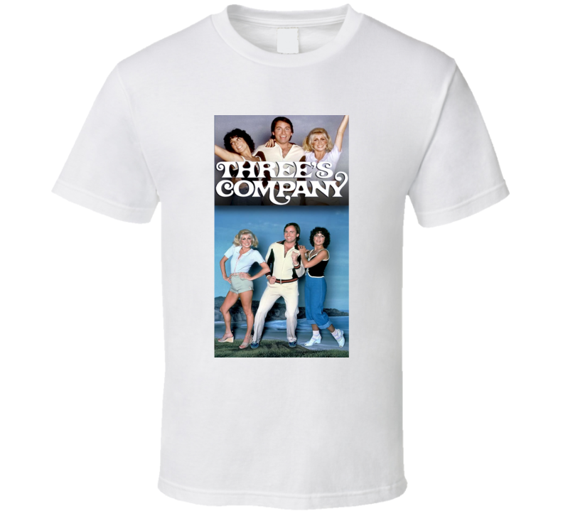 Three's Company Tee 70's Vintage TV Show Cool Retro Fan T Shirt