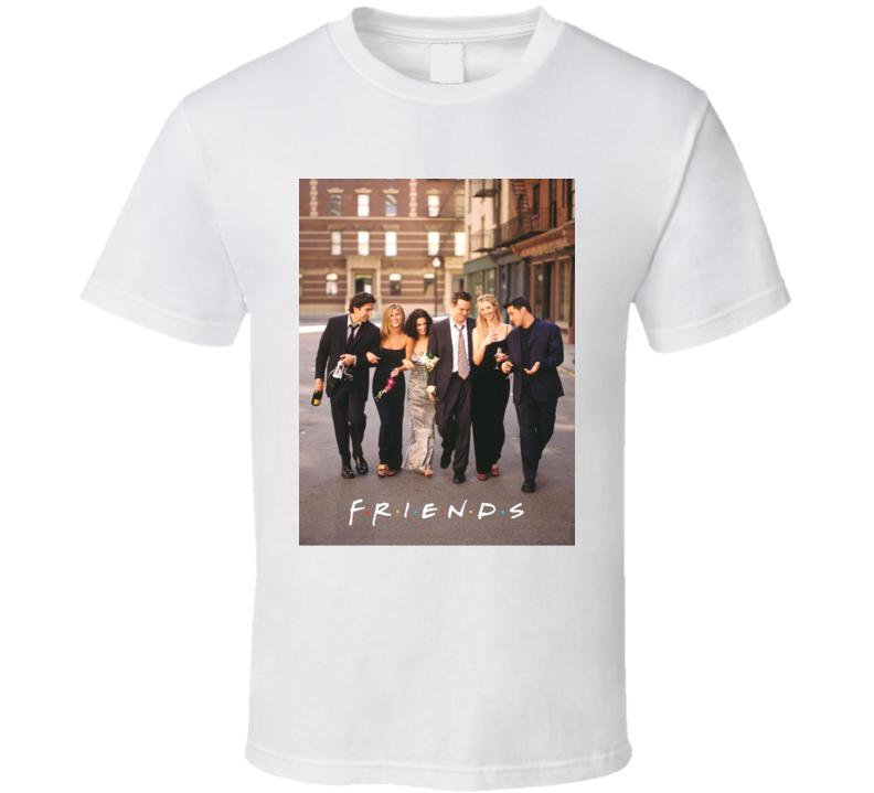 Friends Tee 90's Vintage TV Show Cool Retro Fan T Shirt