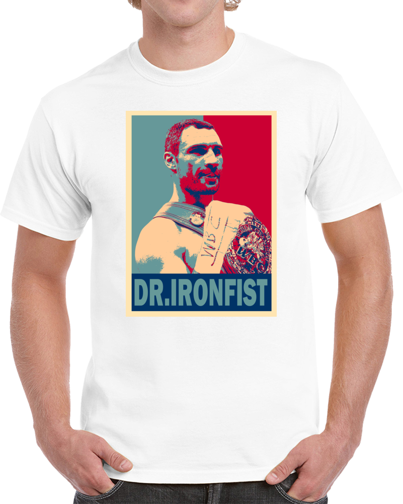 Vitali Dr. Ironfist Klitschko Tee Best Pound For Pound Boxer Hope Style Boxing Fan T Shirt Style: Classic