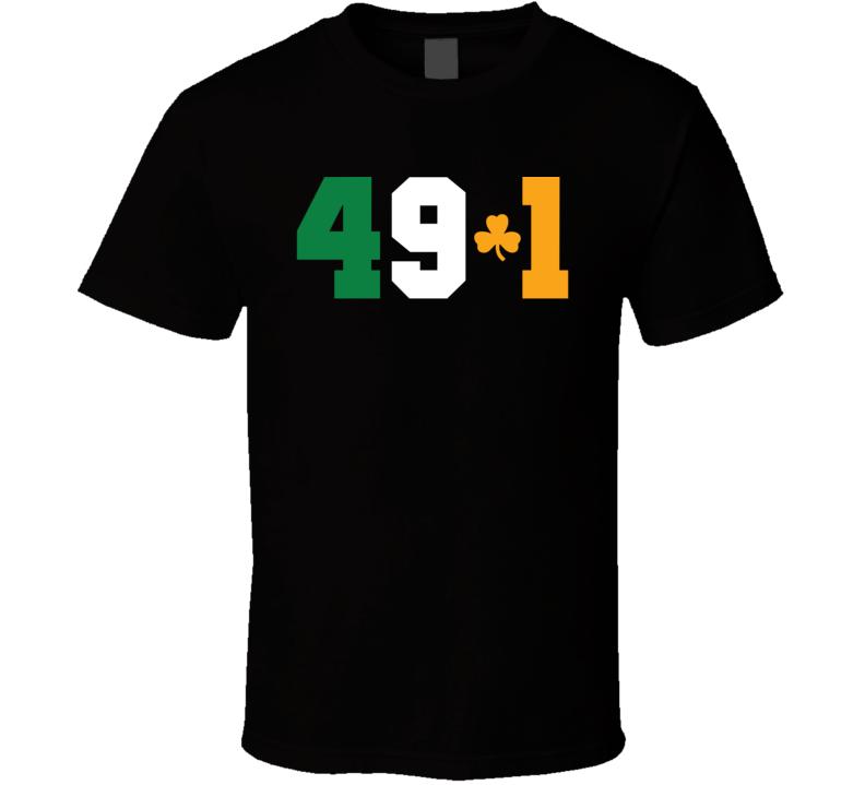 49-1 Floyd Mayweather Record Tee Conor McGregor Win MMA Boxing Funny Irish Fighter Fan T Shirt