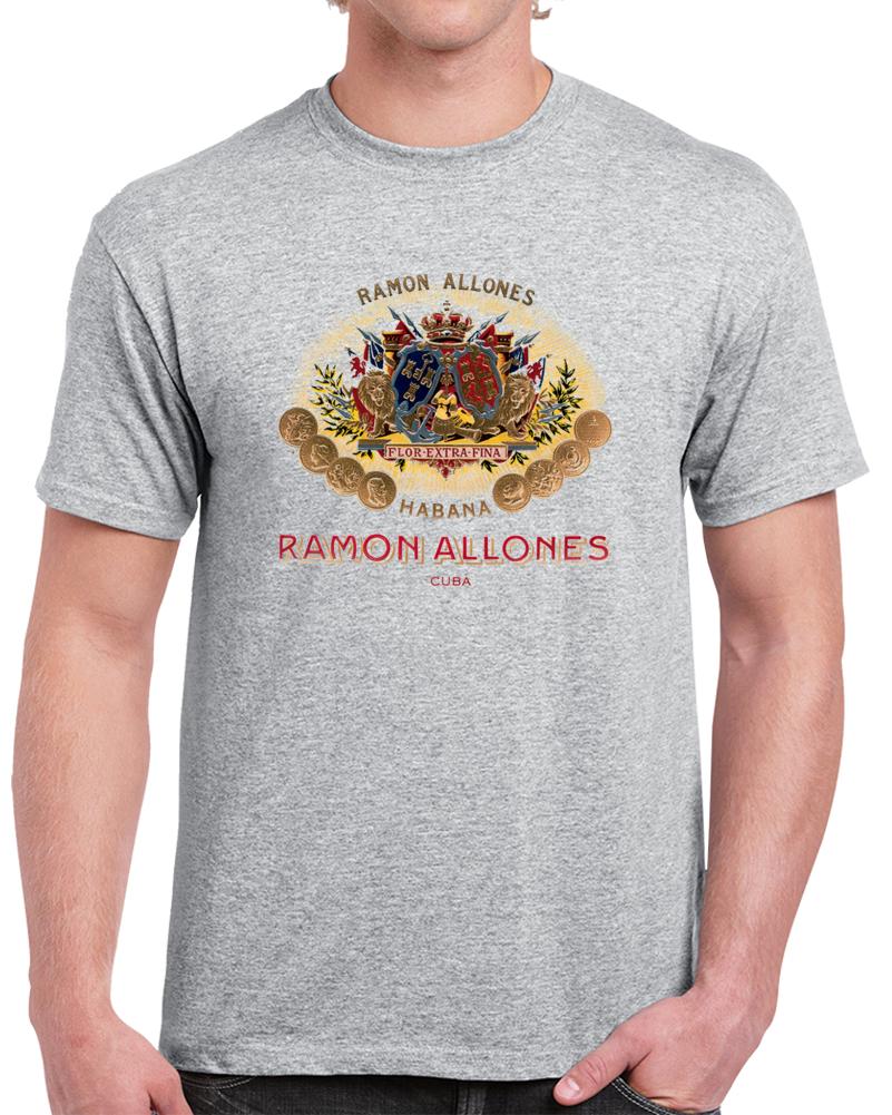 Ramon Allones Cigar Tee Cuban Cigars Lover Trendy Retro Style T Shirt