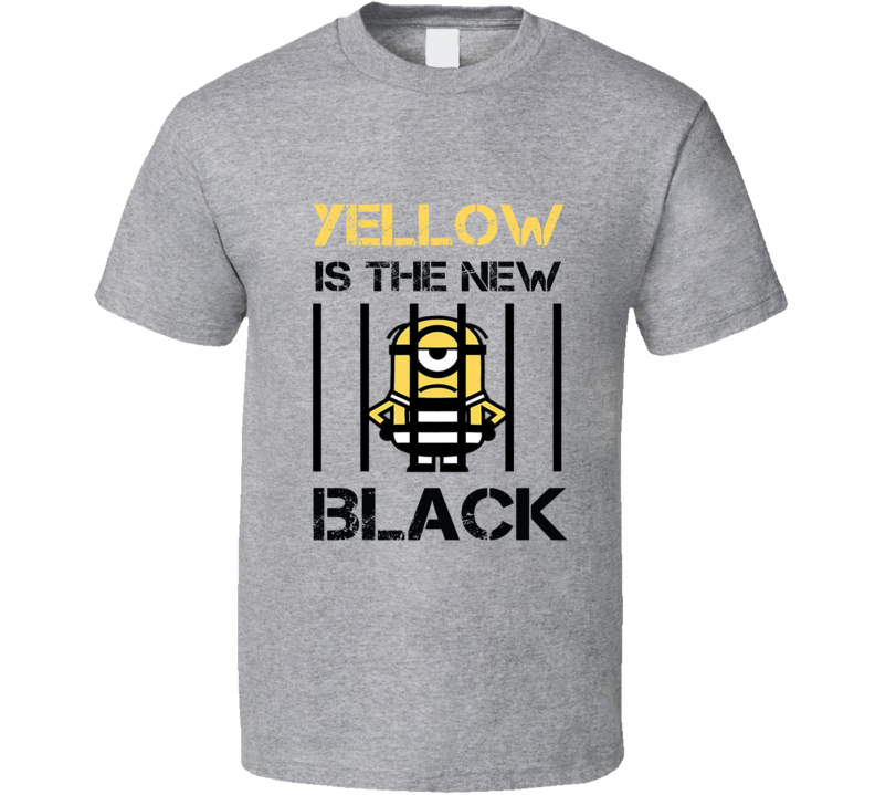 Yellow Is The New Black Tee Funny Minions Despicable Me T Shirt