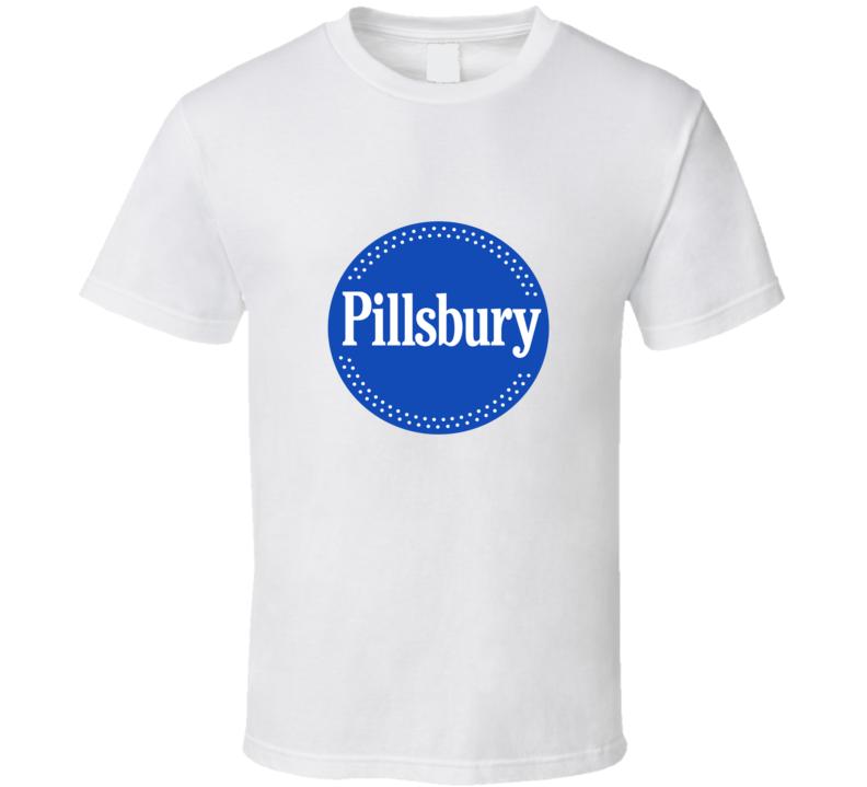 Pillsbury Logo Tee Funny Dough Boy Halloween Costume T Shirt