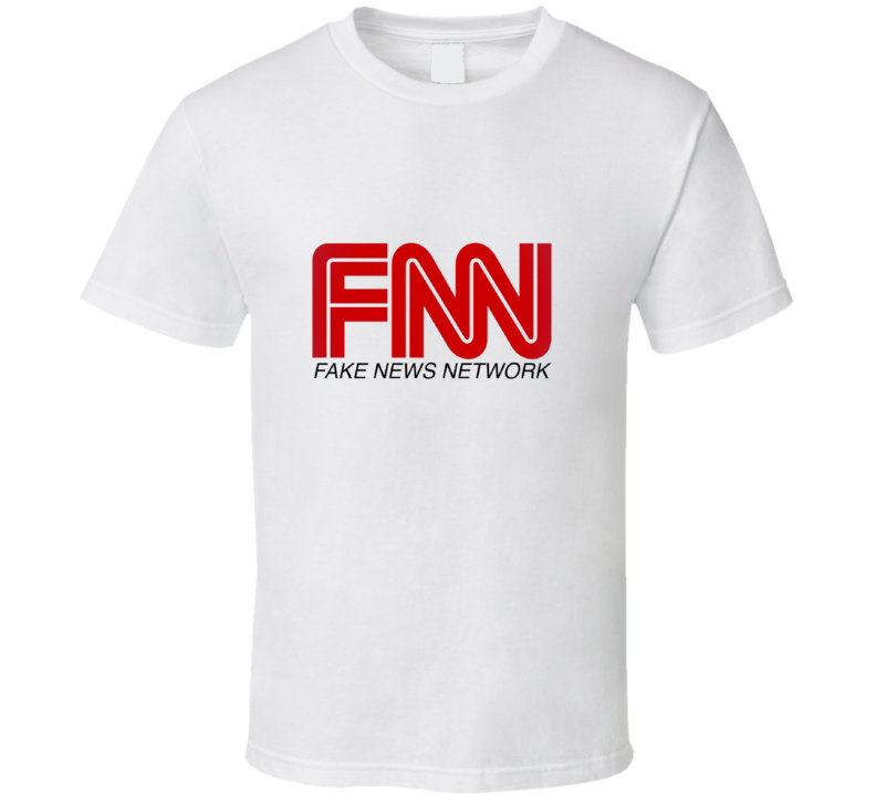 CNN Fake News Network Logo Tee Funny TV T Shirt
