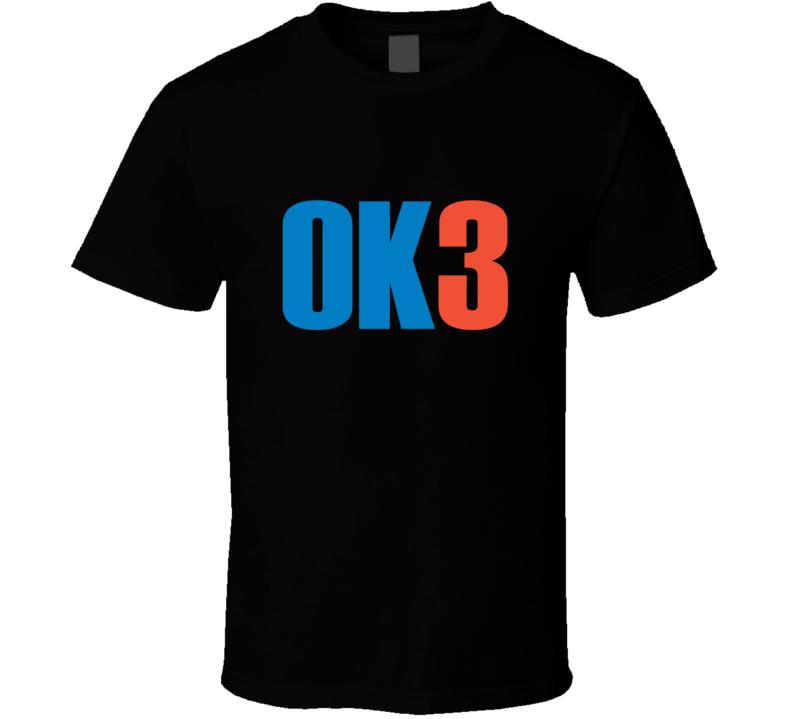 OKC Oklahoma City Basketball Tee Big 3 OK3 Cool Trendy T Shirt