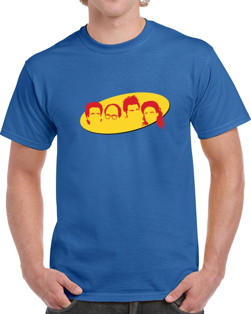 Seinfeld Characters Logo Tee Retro TV Show Series T Shirt