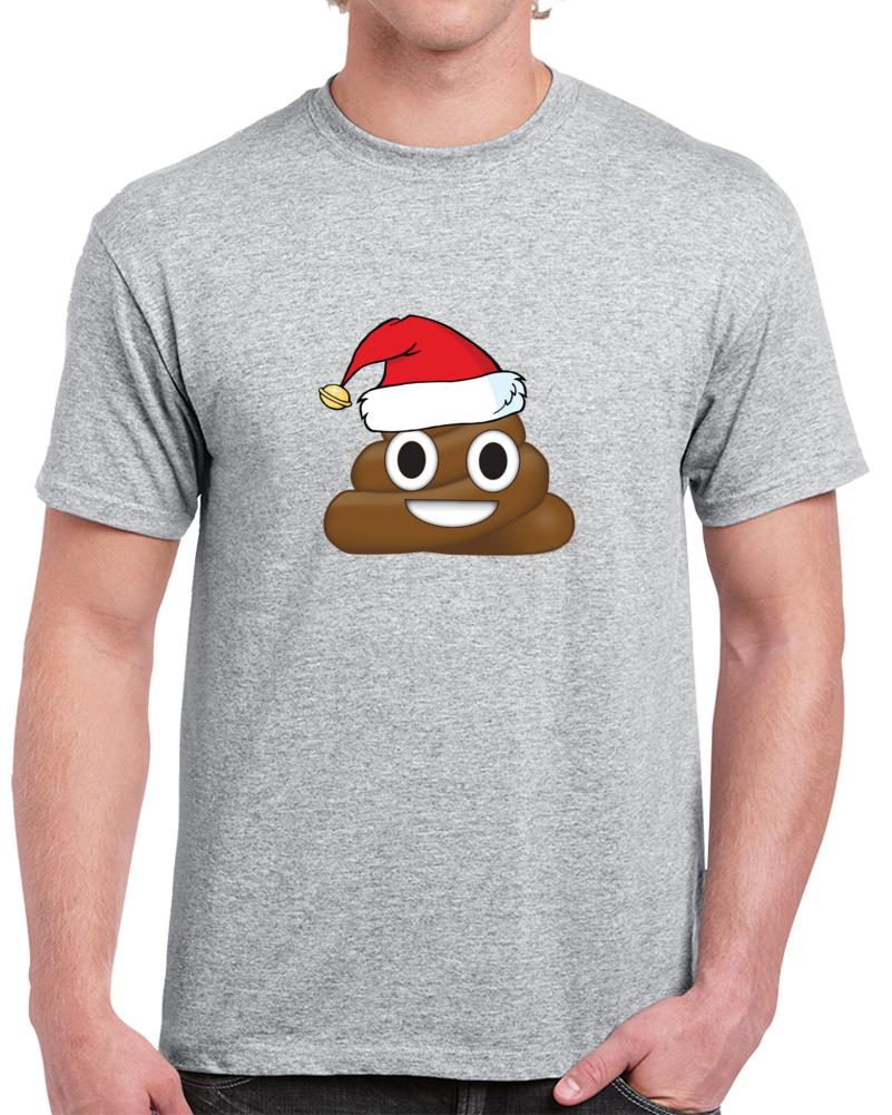 Poop Emoji Christmas Tee Funny Festive Holiday T Shirt