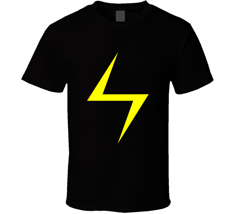 Ms Marvel Lightning Bolt Tee Kamala Khan Cool Superhero Comic Fan T Shirt