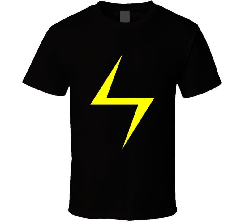 Ms Marvel Lightning Bolt Tee Kamala Khan Cool Superhero Comic Fan T Shirt