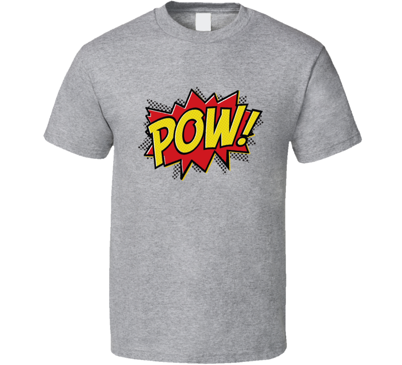 Pow! Tee Retro Comic Book Fan Comics Cool T Shirt