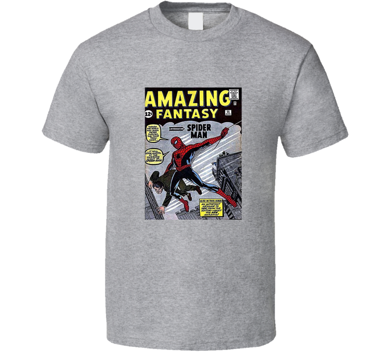 Amazing Fantasy 15 Tee Retro Comic Book Cover Comics Fan T Shirt