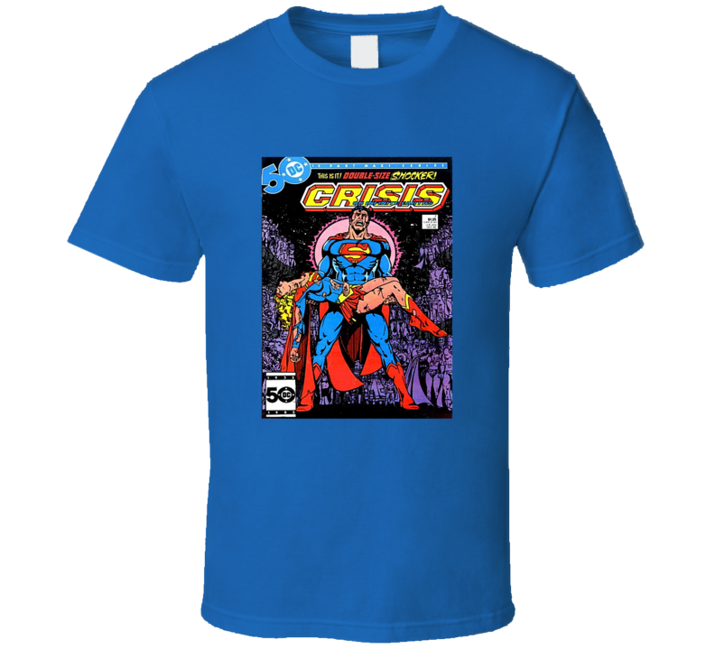 Crisis On Infinite Earths 7 Tee Retro Comic Book Cover Comics Fan T Shirt