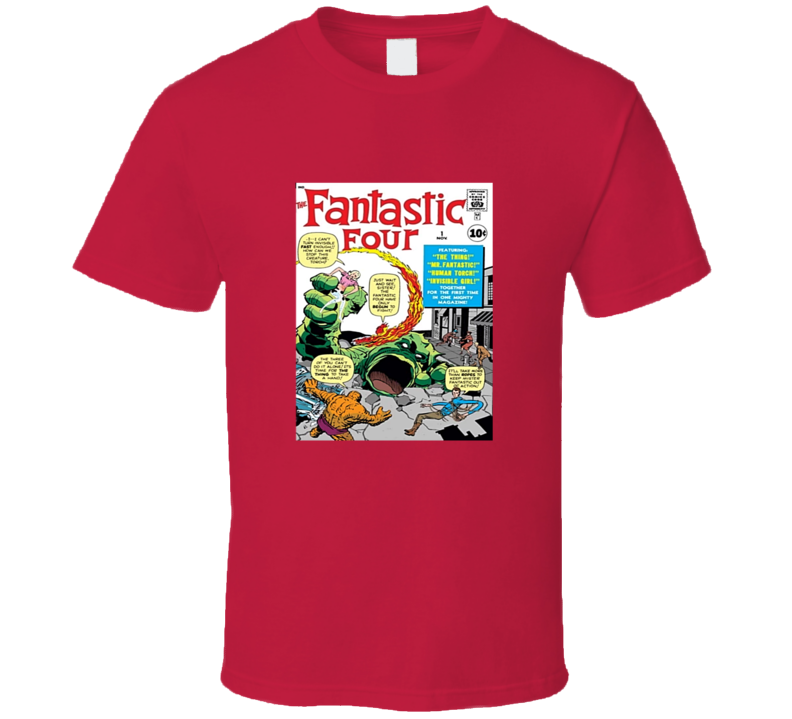 Fantastic Four 1 Tee Retro Comic Book Cover Comics Fan T Shirt