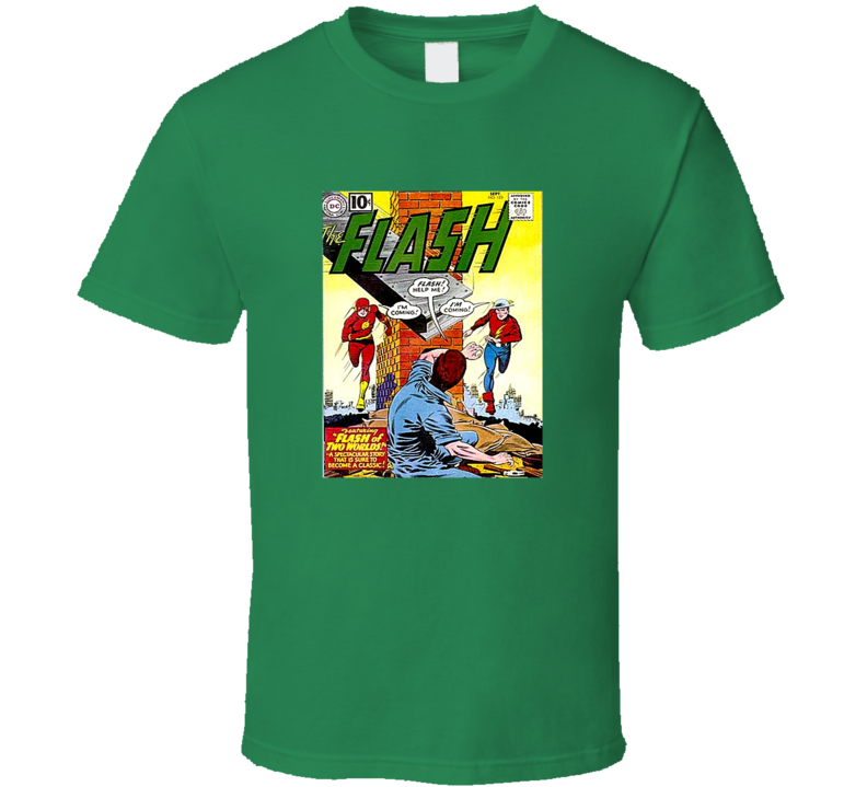 Flash 123 Tee Retro Comic Book Cover Comics Fan T Shirt