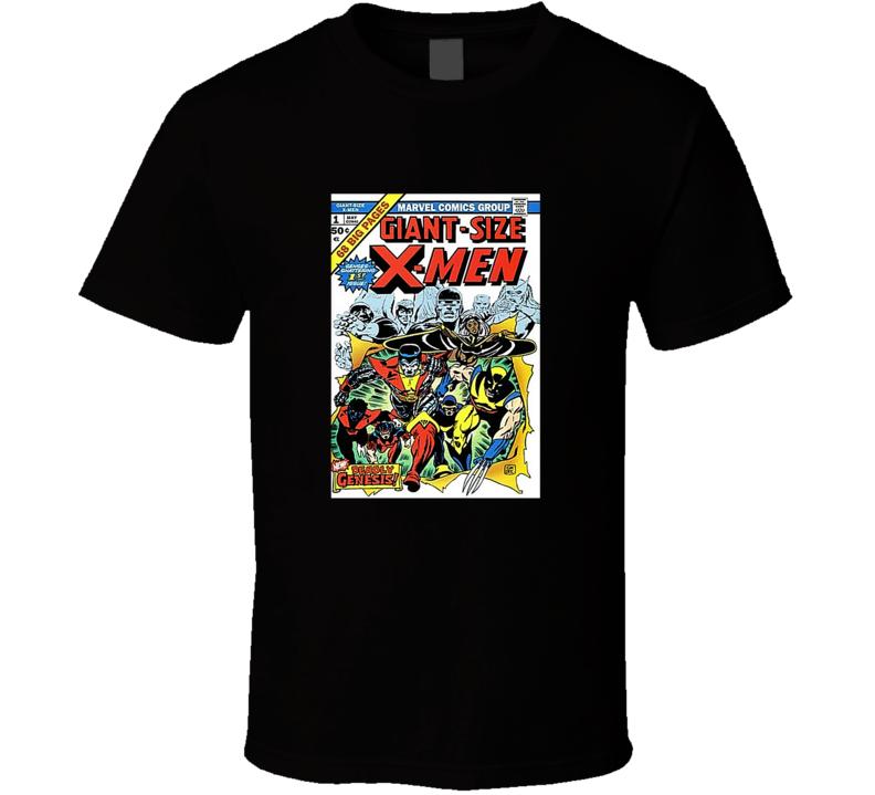 Giant Size X-men 1 Tee Retro Comic Book Cover Comics Fan T Shirt