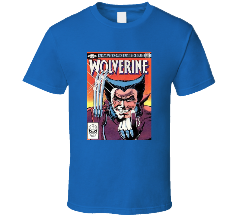 Wolverine 1 Tee Retro Comic Book Cover Comics Fan T Shirt