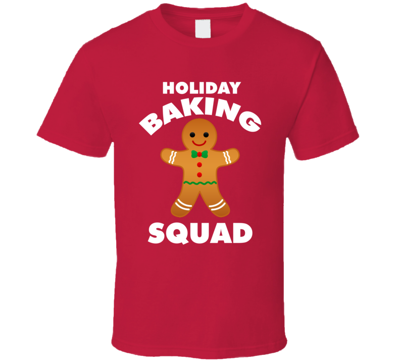 Holiday Baking Squad Tee Funny Christmas Holiday Baker Group T Shirt