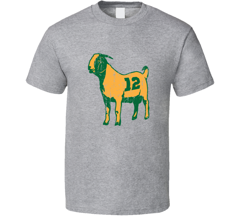 Goat Aaron Rodgers Tee Green Bay Football Fan T Shirt