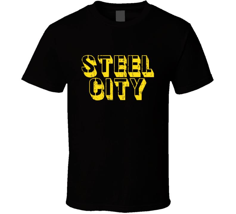 Steel City Tee Trendy Pittsburgh Football Funny T Shirt