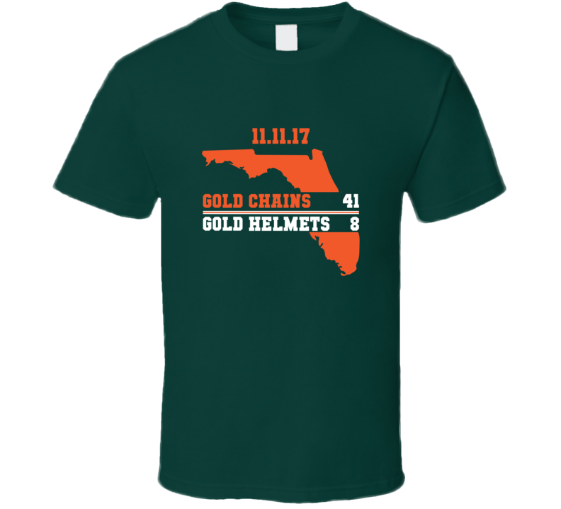 Gold Chains Gold Helmets Tee Miami Notre Dame Rivalry Football T Shirt