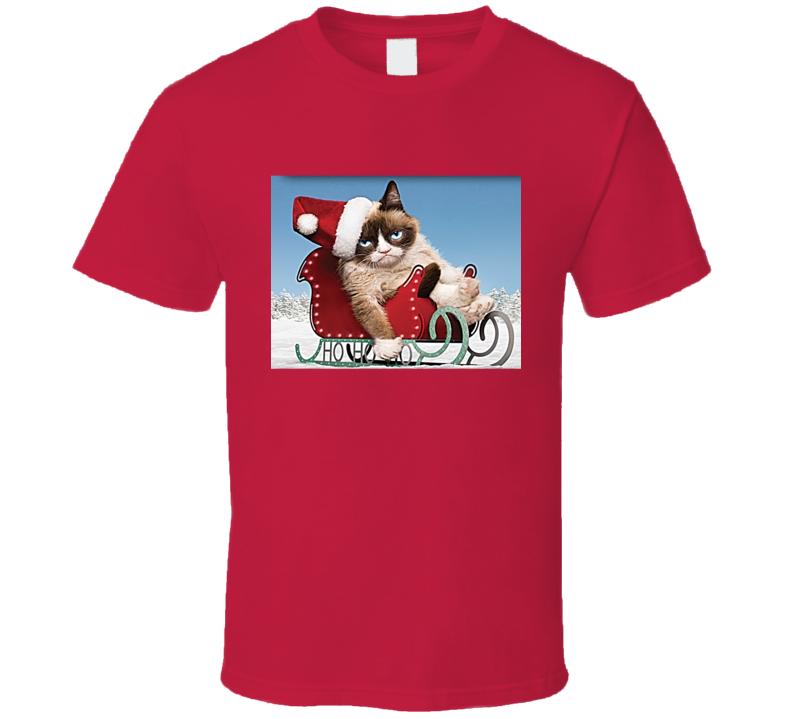 Grumpy Cat Christmas Meme Tee Funny T Shirt