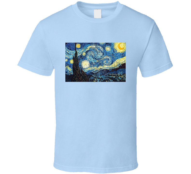 Starry Night Tee Cool Famous Painting T Shirt