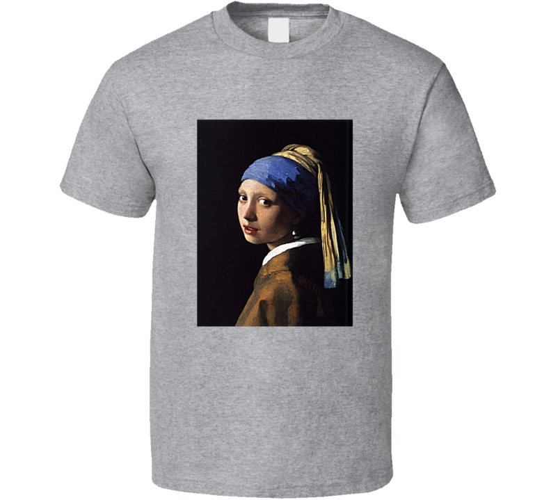 The Girl With The Pearl Earring Cool Famous Painting Art Lover T Shirt