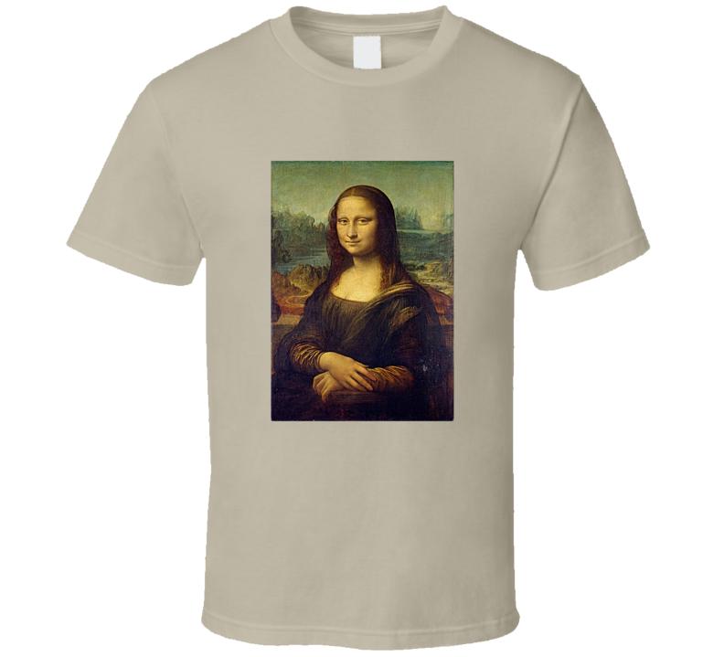Mona Lisa Tee Cool Famous Painting Art Lover T Shirt