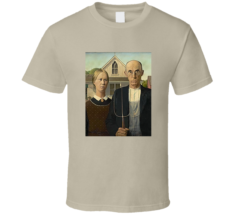 American Gothic Tee Cool Famous Painting Art Lover T Shirt